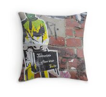 Terrorist Often Wear Suits... Throw Pillow