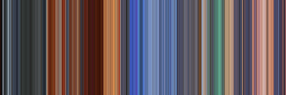Moviebarcode: Hero (2002) [Simplified Colors] by moviebarcode