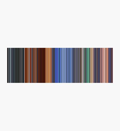 Moviebarcode: Hero (2002) [Simplified Colors] Photographic Print