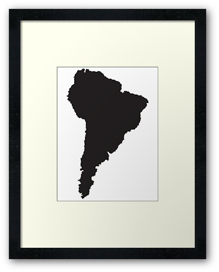 South America simple shape map by jazzydevil