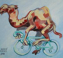 Camel on a Bicycle by Ellen Marcus