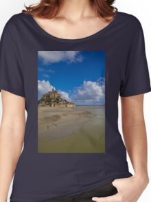 France. Normandy. Mont Saint-Michel. Women's Relaxed Fit T-Shirt