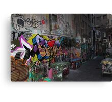 The beauty of the Alley ways Canvas Print
