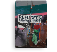 Refugees Are Welcome! Canvas Print