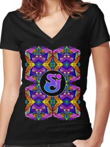 String Cheese Incident - Trippy Pattern 4 Women's Fitted V-Neck T-Shirt