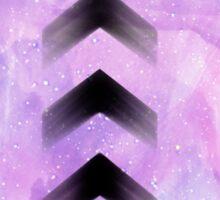 Purple Arrows Sticker