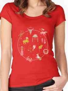 Strange Fortunes: Dreamscape Women's Fitted Scoop T-Shirt