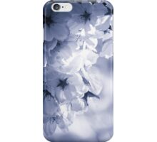 Cyan Cherry Blossoms iPhone Case/Skin