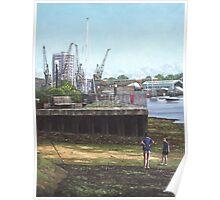 Southampton River Itchen Chapel Tredegar Wharf Poster