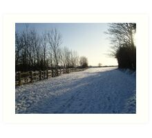 Hertfordshire Snow scene Art Print