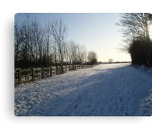 Hertfordshire Snow scene Canvas Print