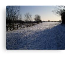Snow Scene in Hertfordhire Canvas Print