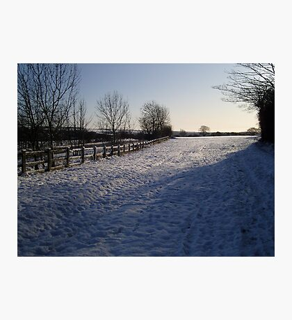 Snow Scene in Hertfordhire Photographic Print