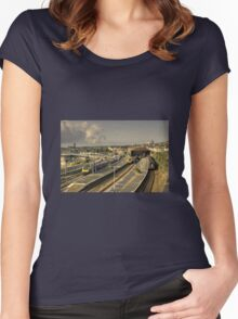 a Penzance Morning  Women's Fitted Scoop T-Shirt