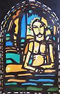 Silkpainting of stained glass window - where in US is it? by © Pauline Wherrell