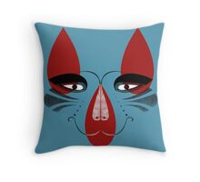 Coyote the Trickster in red, black and white Throw Pillow