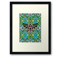 Hylian Royal Crest - Legend Of Zelda - Pattern Framed Print