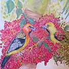 Orioles in Palm Berries by Lynda Earley