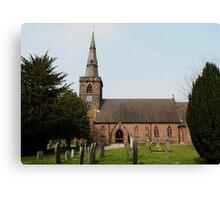 Upton Parish Church, Chester UK Canvas Print