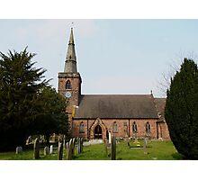 Upton Parish Church, Chester UK Photographic Print