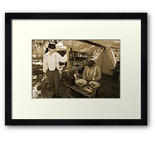 Quartermaster in sepia Framed Print