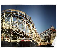 The Coney Island Cyclone Roller Coaster  Poster