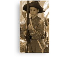 Ready to fight in sepia Canvas Print