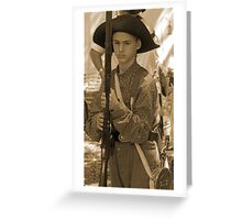 Ready to fight in sepia Greeting Card