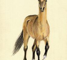 Achal-Teke horse by Julia Shepeleva