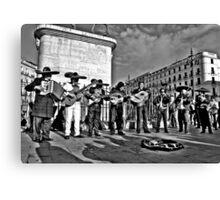 Plaza Musicians Canvas Print