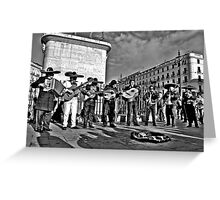 Plaza Musicians Greeting Card