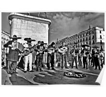 Plaza Musicians Poster