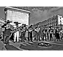 Plaza Musicians Photographic Print