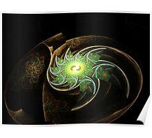Green Spiral Galaxy  (UF0204) Poster