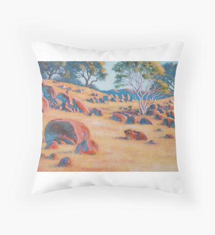 In High Camp, rural Victoria Throw Pillow