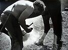 Blacksmith at Work by Sue Nichol
