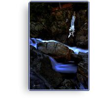 Painted Boulder, Livermore Falls, Plymouth, NH Canvas Print