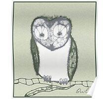Scribbler-Owl Poster