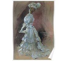 Jules Alexandre Grün An Elegant Lady with a Parasol Poster