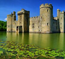 Bodiam Castle, East Sussex, England by Giles Clare