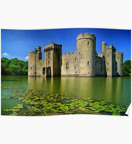 Bodiam Castle, East Sussex, England Poster