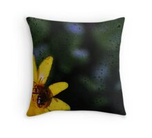 Bloom with Bee Throw Pillow