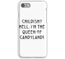 Queen of Candyland Black iPhone Case/Skin