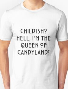 Queen of Candyland Black T-Shirt