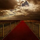 Red carpet on desert by jordygraph