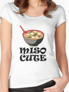 MISO CUTE Women's Fitted Scoop T-Shirt