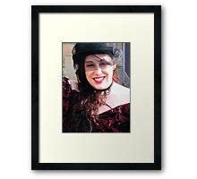 Goth Smile Framed Print