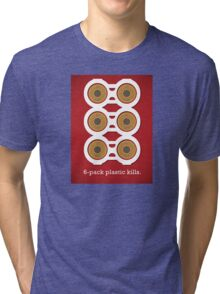 Cut Up 6-Pack Plastic Tri-blend T-Shirt