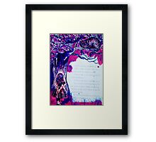 Cheshire and Alice Framed Print
