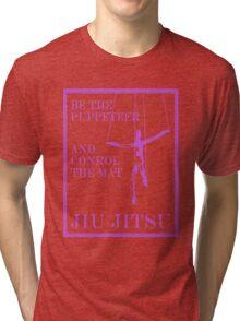 Be the Puppeteer and Control the Mat Jiu Jitsu Purple  Tri-blend T-Shirt